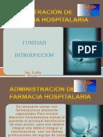 Introducción a la Farmacia Hospitalaria