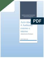 Actividad No.4 Ambiente externo e interno