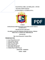 Planificación de Periodo Promocional - Ciclo Intermedio 2020