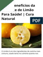 Os 30 Benefícios da Semente de Limão Para Saúde