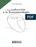 Adolf Reinach - Introduccion a La Fenomenologia (1914) - Libgen.li