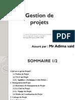 Presentation Cours Gestion de Projet