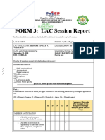 LAC 3 Session Report Hannah