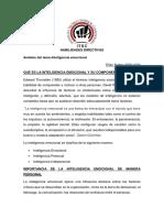 Análisis del tema Inteligencia emocional ELIAN NUÑEZ 2020-1034