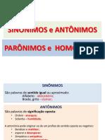 Teoria_Sinônimos antonimo paronimo e homonimo