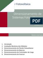 Slides - Dimensionamento de Sistemas FV