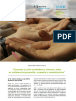Programa empresas y crisis humanitarias