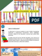 CARACTERISTICAS DE LA FILOSOFIA DE LA EDUCACION