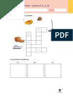 Consolidação - Letras P, T, L, D