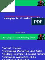 Managing Total Marketing Effort