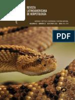 Revista Latinoamericana de Herpetología Vol.3 #2