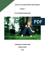 COURS 7 LE DISTRIBUTIONNALISME