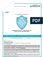 SBI Capital Protection Fund 2011 NFO Applicaion Form