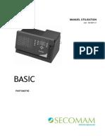 Manuel Analyseur Semi Automatique de Biochimie BASIC