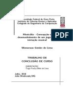 LIMA, Wemerson Geisler de. Musicália - Concepção e Desenvolvimento de Um Jogo Para Iniciação Musical