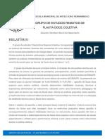 Relatório - Escola Municipal de Artes João Pernambuco