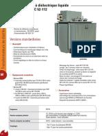 Transformateurs à diélectrique liquide selon norme NF C 52 112