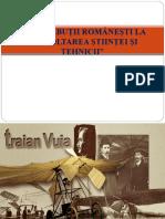 Prezentare Contributii Romanesti La Dezvoltarea Stiintei Si Tehnicii Cls. Xi