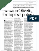 """Olivetti su """"Avvenire"""""""