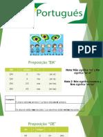 clase7_ Preposições EM e DE