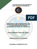 """""""MEDICIÓN DEL CLIMA ORGANIZACIONAL PARA ESTABLECER PLANES DE MEJORAS"""
