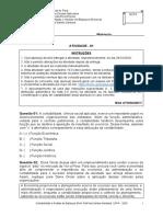 Atividade 01 - Contabilidade e Análise de Balanços (Noturno)