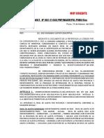 MEMO MULT. 082-X-MRP (DS. 023-21-PCM)