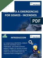 Respuesta a Emergencias Por Sismos Incidentes Incendios