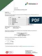 002.Surat Jaminan Pengantar Swab Test ke RS PHC Mitra Kerja Field Sukowati