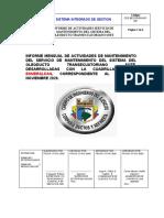 INFORME Nº 0001 ACTIVIDADES  NOVIEMBRE 2020 DEF