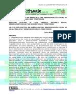 Ecologia Na America Latina, Repropriação Social Da Natureza e Reinvenção Dos Territorios