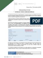 CIRCULAR DPAyT N° 76-20 Sistema de turnos comisiones médicas