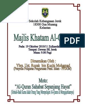 Kertas Kerja Khatam Quran