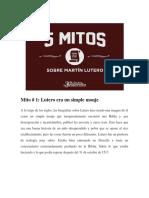 5 Mitos sobre Martin Lutero