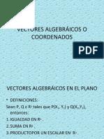 VECTORES ALGEBRÁICOS O COORDENADOS