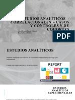 Estudios Analíticos - Correlacionales - Casos y Controles