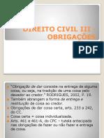 Aula Obrigações 2- modalidades de obrigações 1