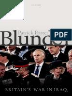 Blunder Britains War in Iraq by Patrick Porter