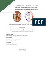 Análisis Del Reglamento de Organización y Funciones - ROF Del Gobierno Regional de Cusco.