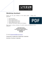 Workshop Assistant Application Pack 08