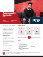 Diploma in Cybersecurity Specialist Co-op