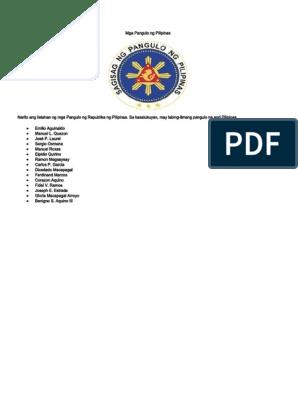 dating MGA pangulo ng Pilipinas