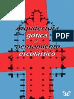 Arquitectura gotica y pensamiento escolastico