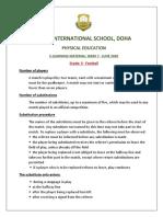 PE E Learning Worksheet Week 7 - Grade 3