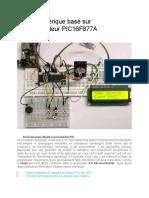 Réveil Numérique Basé Sur Microcontrôleur PIC16F877A