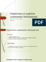 Organizarea și regăsirea conținutului informațional
