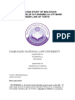 IN THE CASE STUDY OF MALICIOUS PROSECUTION OF D