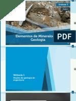 Elementos de Mineralogia e Geologia - Unidade 3 - Seção 1