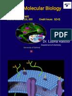 Lecture No. 11 Cell & Molecular Biol
