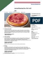 131809 Rezept PDF Kaesekuchen Amerikanische Art Mit Himbeerwirbeln